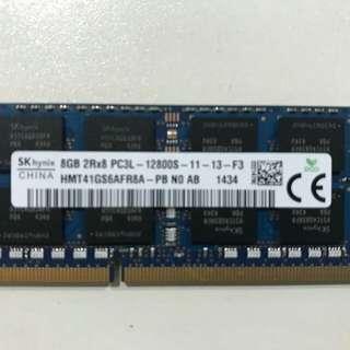 Used Hynix 1 x 8GB PC3L-12800 laptop memory