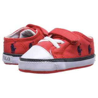 RALPH LAUREN Baby Red Baby Shoes Crib Shoes Baby Sneakers Size 3