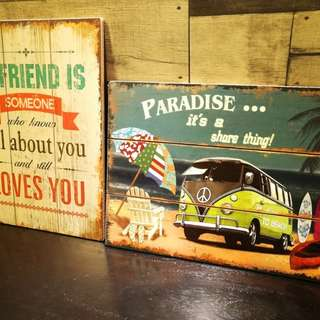 Vintage style wooden wall decors