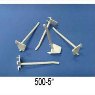 Plastic Single Prong Slats Hooks