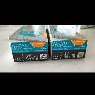 Acuvue  Oasys- Daily contact  lenses