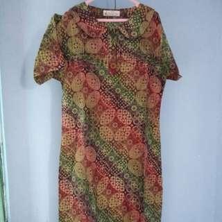 Dress Batik Kencana Ungu