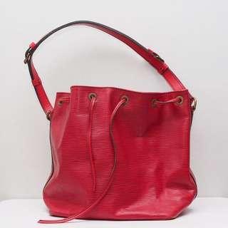 MINT Louis Vuitton Red Noe Bucket Bag