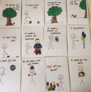 Sight words laminated cards