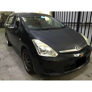 TOYOTA WISH ONLY $240.00 FROM 26/01/2018-29/01/2018 (P PLATE WELCOME)