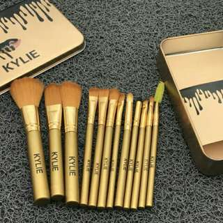 Kylie gold brush set