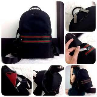 "GUCCI Zipper Fabric Backpack SS18 ""Black Hardware"""