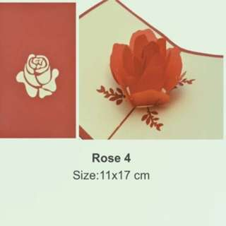 Valentine's Day card Rose