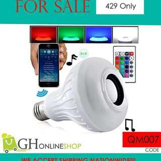 Music Bulb Bluetooth operated and remonte control