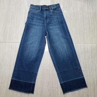 💯Uniqlo 牛仔闊腳褲 jeans