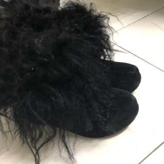 IT 買 毛毛 高跟鞋