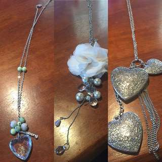 3 long necklaces