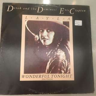 "Derek & The Dominos / Eric Clapton ‎– Layla / Wonderful Tonight (Live Version), 12"" Single Vinyl, RSO ‎– RSOX 87, 1982, UK"