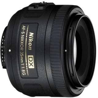 For Rent : Nikon AF-S DX NIKKOR 35MM F/1.8G (Tags: DSLR Mirrorless Camera Lens Canon Sony)