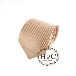 Houseofcuff Dasi NeckTie Slim Polos Wedding Best Man  ROSE GOLD LISTED TIE