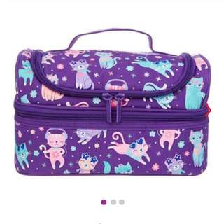Smiggle snaps double decker lunchbox (purple)