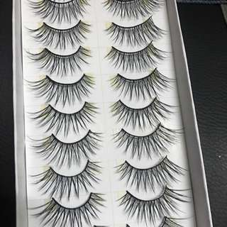 Fluffy flattering fake lashes (falsies)