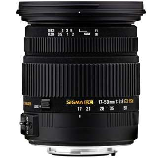 For Rent: Sigma 17-50mm f/2.8 EX DC OS HSM Nikon mount (Tags: DSLR Mirrorless Camera Lens Canon Sony)