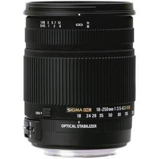 For Rent: Sigma 18-250mm f/3.5-6.3 DC Macro OS HSM (Nikon Mount)