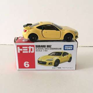Tomica Subaru BRZ YELLOW (limited edition colour)