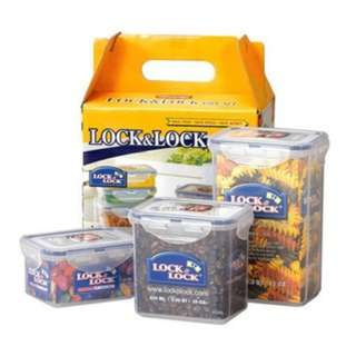 Lock&Lock Gift Set Plastic Container (isi 3) disc @146.000