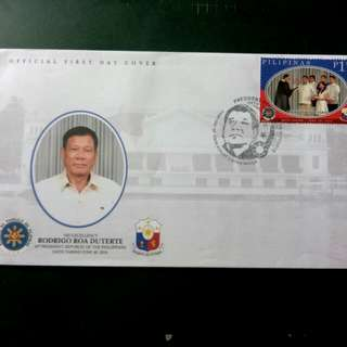2016 Pres. Duterte Oath Taking First Day Issue Stamp