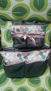 2 PC Diaper Baby Bag