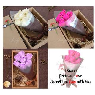 Rose Bouquet Flower Soup for Valentine's Day/Birthday/Mother's Day/Anniversary Day/Wedding Day Gifts/Teacher's Day