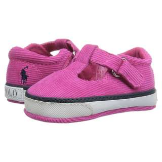 RALPH LAUREN Baby Mary Jane Pink Baby Shoes Newborn Shoes Crib Shoes Size 1
