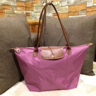 Authentic Longchamp Long Handle Old Rose Tote bag