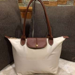 Authentic Longchamp Small tote Beige