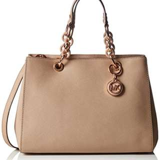 Michael Kors Cynthia Leather Medium Satchel