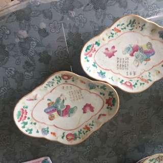 Pair of vintage plate