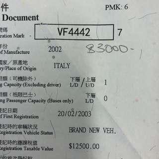 車牌號碼-VF2777