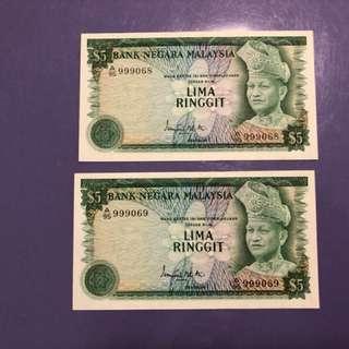 Malaysia RM5 x 2 Run Notes