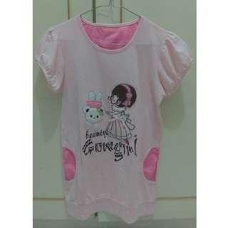Atasan/Kaos Pink Anak
