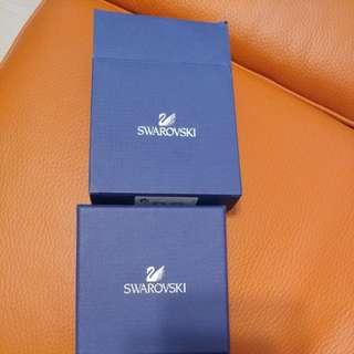 Swarovski 0.6cm 水晶耳環,99%new 只帶了1次