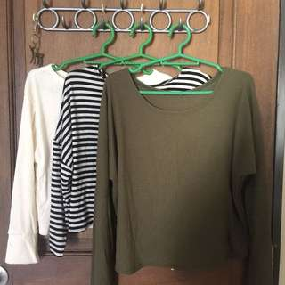 3 for 350 Long Sleeves Crop Top