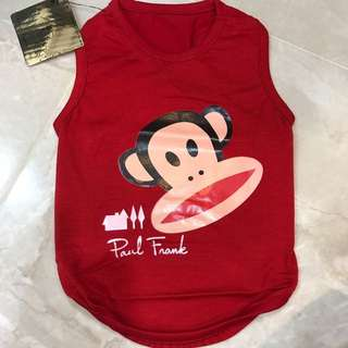 Red Paul frank pets clothing