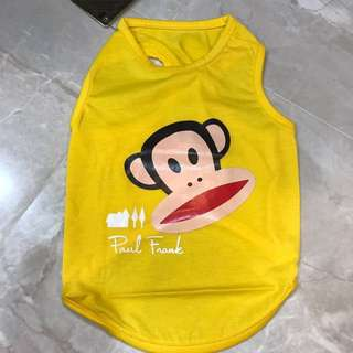 Yellow Paul Frank pets clothing