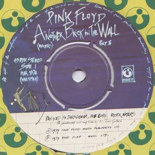 Vg+ Pink floyd single 7 record another brick vinyl prog rock