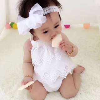 BB-0015 Baby Girls Dress Rompers