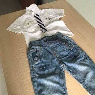 Baby overall outfit