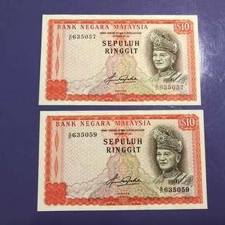 Malaysia RM10 x 2 Notes
