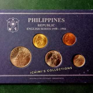 Philippine Republic English Series Coins 1958-1966, Collectible
