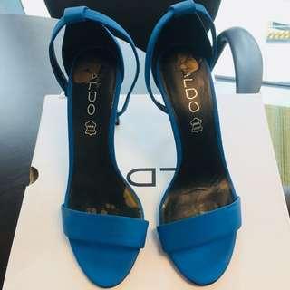 Aldo Blue Strappy Heels US 6 EU 37