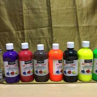 tempera paint large 1set