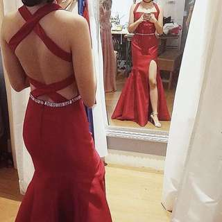 PRE-LOVED: Designer Sexy Red Long Gown