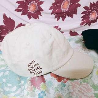 Anti social social club cap帽 米色