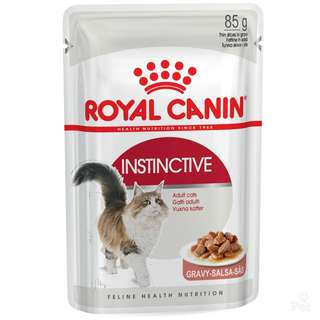 Royal Canin Pouch Instinctive In Gravy Cat Food 85g, 12 pouchs